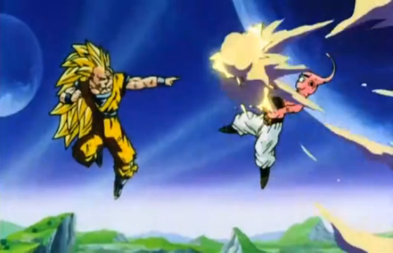 File:Vegeta's Respect - Goku blasts Kid Buu.PNG
