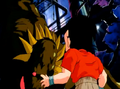 Bio Broly once again targets Krillin