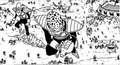 DXRD Caption of an Appule's race soldier with a double lance visor-like Scouter, a thin Planthorr-esque soldier & frog-like advisor. Revival of F manga chapter 2