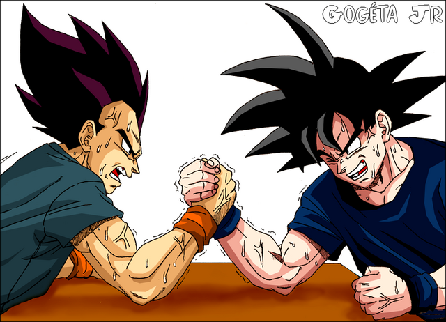File:Goku vs Vegeta by Cerberus Underdoggie.png