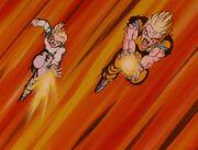 Gohan and Goten attack Omega