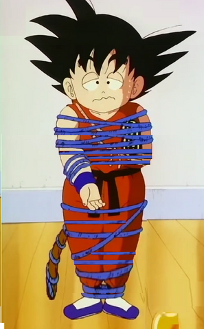File:Kid goku arms legs bound and he feeling week3.png