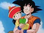Goku and gohan beginning of dbz.jpg