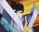 Gohan Breaks Z Sword