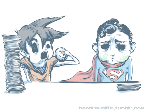 File:Goku vs superman by thedecay-d3ec5ox.png