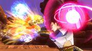 DBX Female Super Saiyan Future Warrior fighting Vegeta (Saiyan Saga) 08-21-14