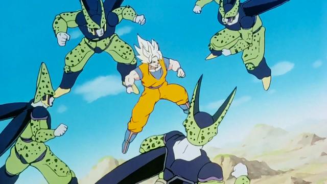 File:GokuSurroundedByCells.png