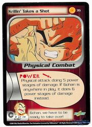 Dragon Ball Z CCG Card Krillin Takes a Shot