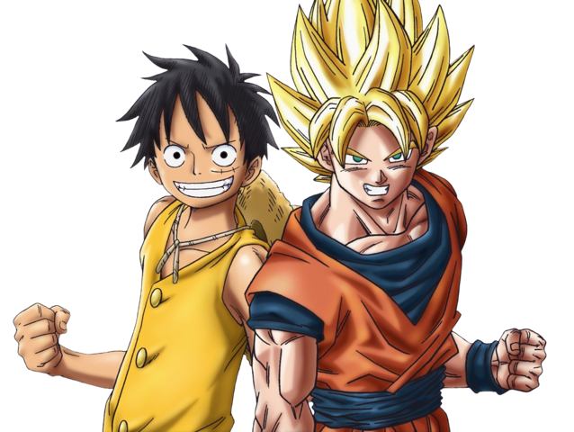 File:Dragon Ball z One piece Luffy Sangoku goku.png