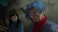 Mai and Trunks hiding