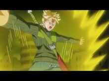 Trunks using final flash on zamasu