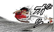 Tao fires a Dodon Ray at Goku