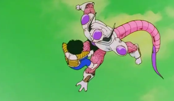 File:Frieza jams in his knee in to gohan sromach.png
