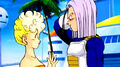 Trunks speaking to his grandmother