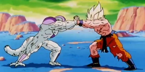 File:Duel on a Vanishing Planet - Goku vs Frieza.PNG