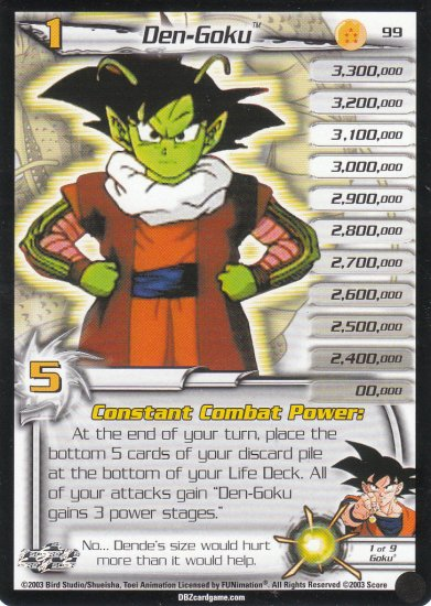 Dragon Ball Z Collectible Card