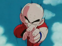 Krillin rushes Piccolo