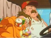 Fat truck driver