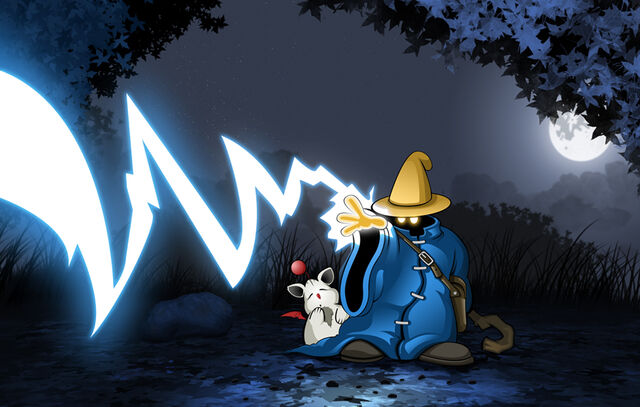 File:Black Mage Escorting Moogle by Trebeck.jpg