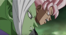 Future Zamasu and Goku Black mock Future Trunks.