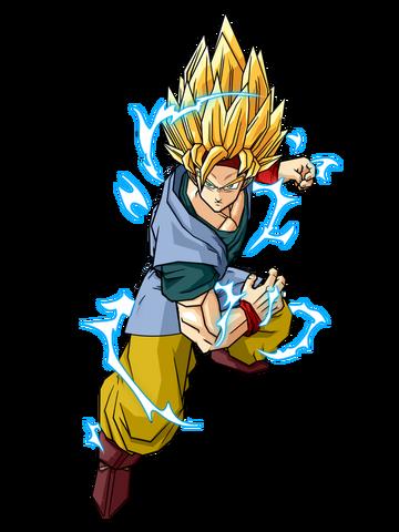 File:Goku Jr Adult Super Saiyan 2 by SpongeBoss.png