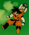 Gohan, Defeat Your Dad!! - Krillin attacks