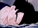 Gohan fell to ground dead after being killed by turles 6