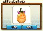 Evil Pumpkin Dragon Egg