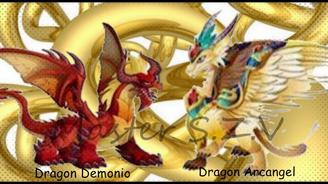 Archivo:Dragon demonio y Dragon Arcangel Master S.Z.V.jpg