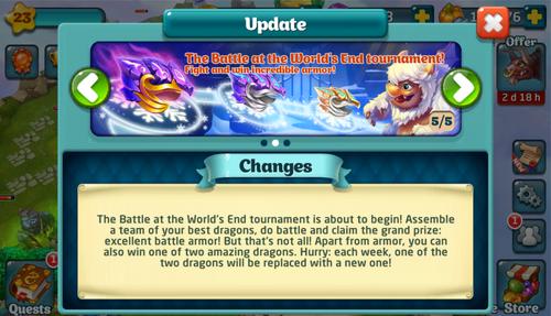 Tournament LVII Update