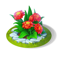 Scarlet Flower BedDecor
