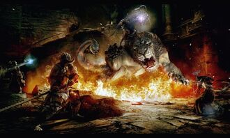 Chimera battle artwork
