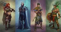 Four tribes repres