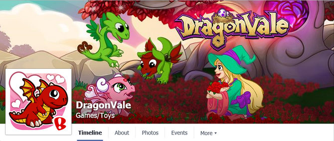 DragonVale-FBHeader-Gathering Of The Roses