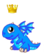 BlueFireDragonBabyCrown