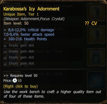 Karabossa s icy adornment drakensang online wiki fandom powered by