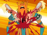 Ling-Ling kills Xandir in half