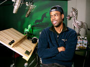 Chris Rock in the recording studio