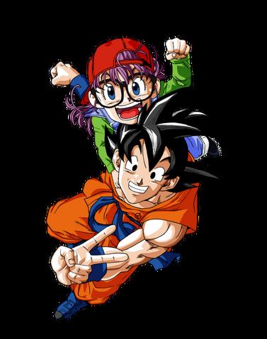 File:Goku and arale dragon ball super render by bl sama-da1ytnm.png
