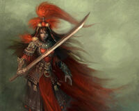 Red samurai by unknown