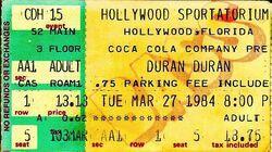 Hollywood Sportatorium, Hollywood, FL (USA) duran duran