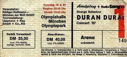 Ticket duran duran 1987-05-10 munchen germany
