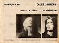 Careless memories single wikipedia duran duran advert