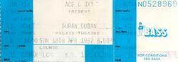 Palais Theatre Melbourne Australia wikipedia duran duran ticket stub