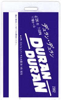 DURAN DURAN JAPAN TOUR LAMINATE 1