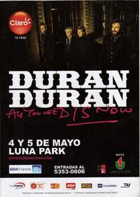 Luna park argentina wikipedia duran duran poster