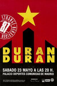 Palacio Municipal, Madrid, Spain duran duran poster