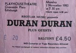 Duranplay82 ticket