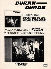 Spain duran duran wikipedia advert album