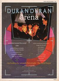 Arena advert wikipedia video duran duran album